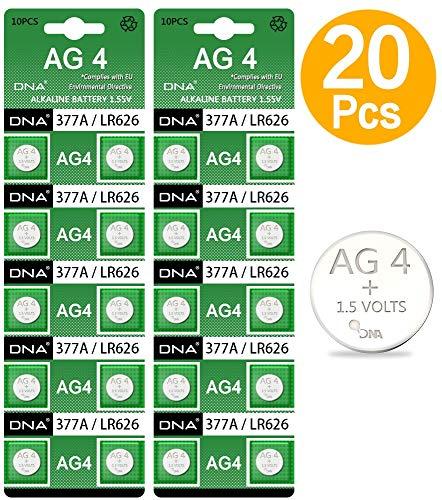 DNA - Pilas para Reloj (20 Unidades, AG4, LR626, 377, SR626, 606)