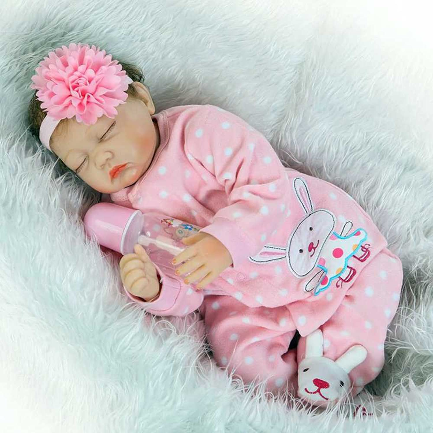 Yesteria Real Looking Sleeping Reborn Baby Doll Girl Silicone Pink 22 Inches