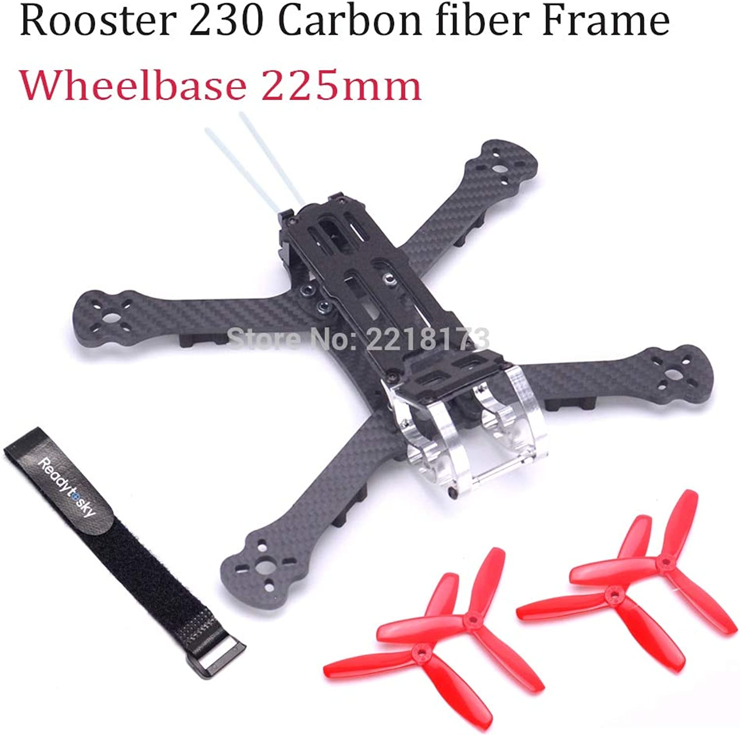 Laliva Rooster 230 225mm 5  FPV Racing Drone Quadcopter Frame 5 Inch FPV Freestyle Frame 5045 Propeller Red ForArmattan  (color  Without 5045 Prop)