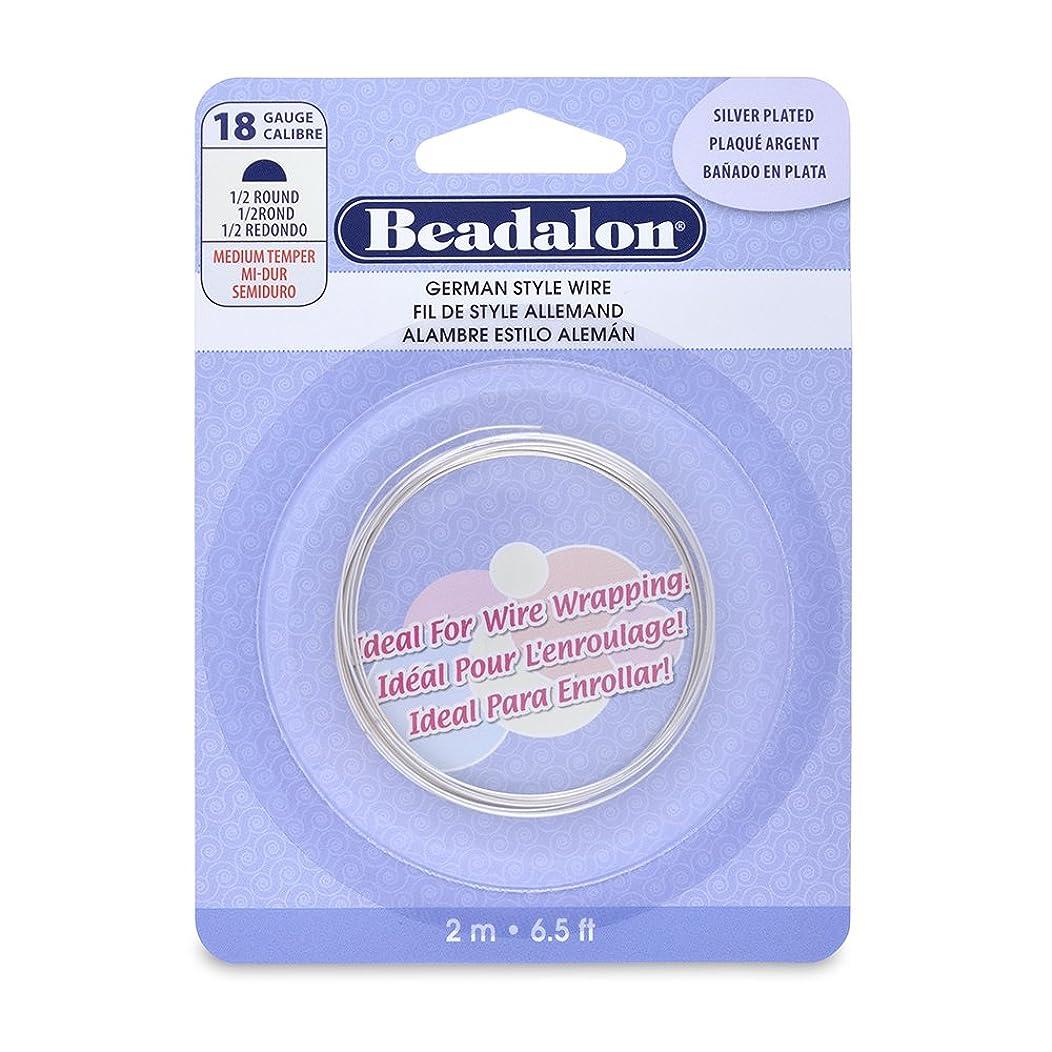 Beadalon German Style Half Round Wire, 18-Gauge, Tarnish Resistant Silver Plated