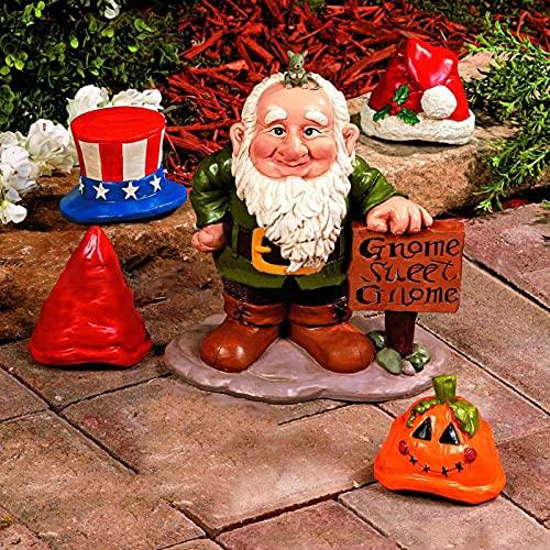 FUFRE Figuras de jardín para exteriores, decoración de Halloween, decoración de jardín, artesanía exquisita, para niños, familia, amigos, etc. Adecuado para familias, restaurantes, bares, etc.
