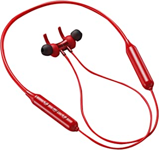 Nobranded Trådlös Bluetooth nackband hörlurar 10H Recreation Noise med Mic-workout – röd