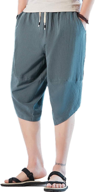 Segindy Men's Casual Shorts Summer Solid Color Loose Comfortable