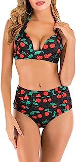 E-girl S130 - Bikini de cintura alta para mujer Negro-2 48