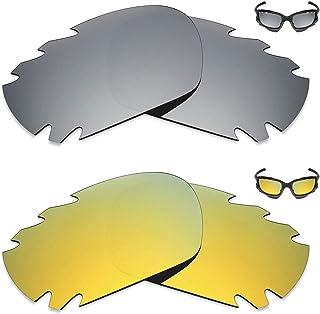 96725084e3 MRY 2 pares polarizadas Lentes de repuesto para Oakley Jawbone Vented –  Gafas de sol,