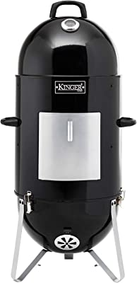 Kinger Home 18 Inch Vertical BBQ Smoker Wood Charcoal Meat Smoker and Grill