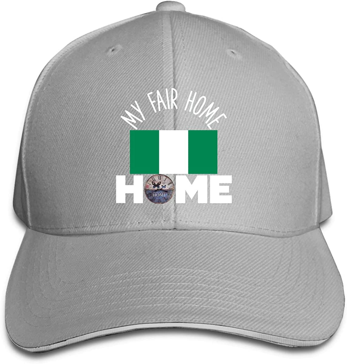 Flag of Nigeria My Fair Home Hat Baseball Cap Duck Tongue Cap Sunhat Fashion Cap