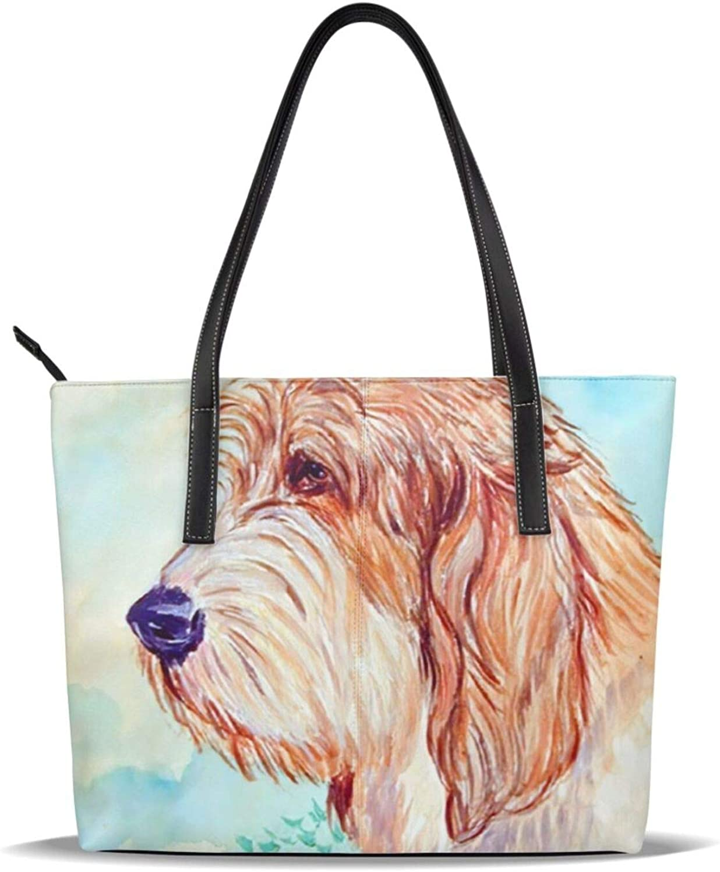 Luxury Petit Denver Mall Basset Griffon Vendeen Pbgv Pattern Leather Printed Dog Pu