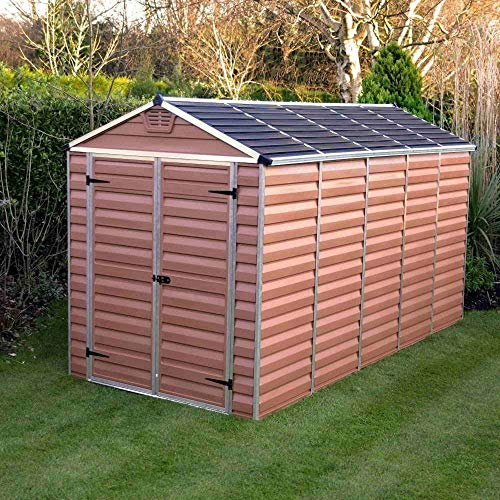 Palram Skylight 6ft Shed (6x12, Amber)