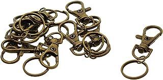 Prettyia 10Pcs Metal Gate Snap Hooks Key Ring Bags Craft Findings