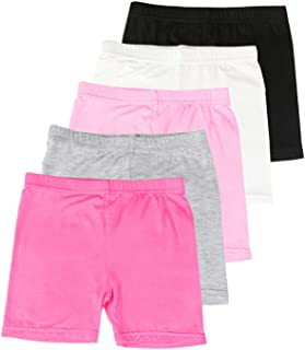BOOPH Girls Dance Shorts Baby Toddler Assorted Color Breathable Bike Short for Sports Dance Underdress 2-10 Year Old
