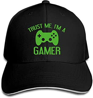 Alepoll Trust Me, I'm A Gamer Mens Baseball Caps Adjustable Peaked Sandwich Dad Hats Black