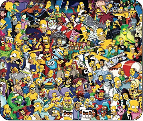 The Simpsons - Greatest Moments Collage - Mouse Pad - Standard Size (10' x 8.5') - Non Slip