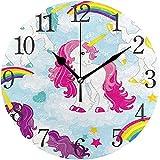 Reloj de Pared Moderno de 9,5 Pulgadas, Lindo Set de Incienso Silencioso sin tictac Reloj Redondo de Escritorio Reloj de Cubo para el hogar, la Oficina, la Escuela