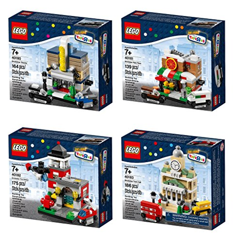LEGO Exclusive 2014 Bricktober Set of Four - Theater (40180), Pizza Place (40181), Fire Station (40182), Town Hall (40183) by LEGO