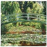 Legendarte - Cuadro Lienzo, Impresión Digital - El Puente Japonés - Claude Monet - Decoración Pared ...