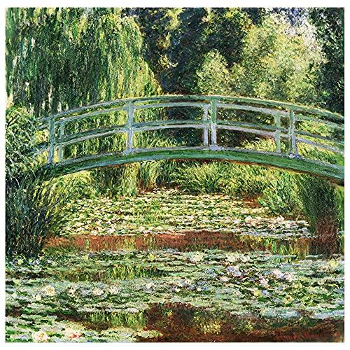 Legendarte Cuadro Lienzo, Impresión Digital - El Puente Japonés - Claude Monet cm. 90x90 - Decoración Pared