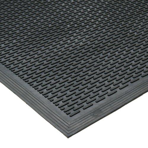 Rubber-Cal 03-239-LI'DuraScraper Linear' Commercial Rubber Entrance Door Mat, 3/8' Thick x 36' x 60', Black