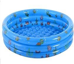 Piscina Hinchable Familiar Swim Center,Piscina Hinchable para niños Engrosada, Estanque de Pesca Redondo Resistente al Desgaste-Azul_150 * 42cm,Piscina Hinchable Familiar PVC Ecológico