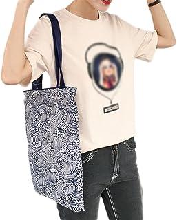 Demarkt Umweltschutz Strandtasche Badetasche Einkaufstasche Tragetasche aus Segeltuch Wolkenmuster 33x37cm