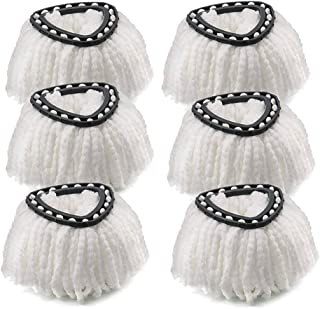 BBT BAMBOOST Mop Head Replacement Fit for OCedar Microfiber Easywring Spin Mop Refill - 6 Pack