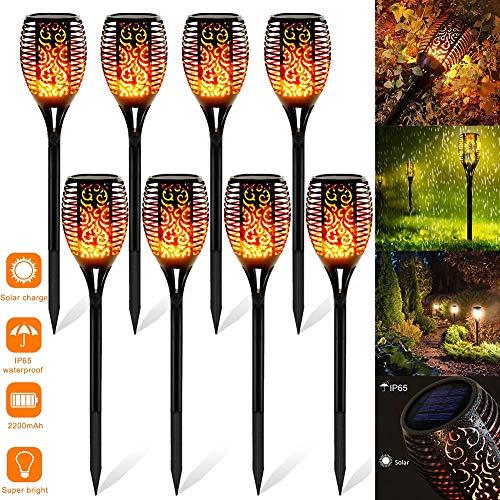 StillCool Solar Flammenlicht, 8 Stück Wasserdicht IP65 Solar Fackel Solar Garten Automatische Ein/Aus für Hinterhöfe, Gärten, Rasen Beleuchtung