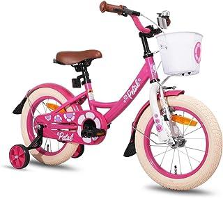 Cuadro de Acero 16 Pulgadas. ruedines Conor Bicicleta Meteor Bike con Ruedas de Entrenamiento Bici para ni/ños y//o ni/ñas de 4 a 6 a/ños Bicicleta Infantil de Cuatro Ruedas