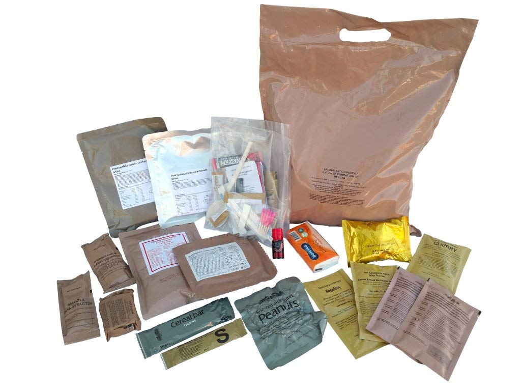 New BRITISH MRE Army Ration Meal Ready To Eat Emergency Food Supplies Genuine ORP (Menu 1)