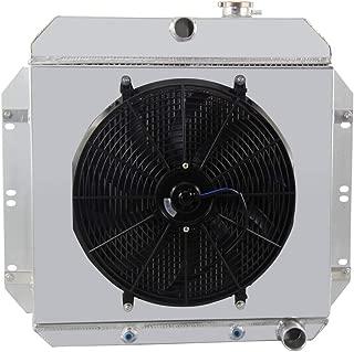 OzCoolingParts 60-60 Chevy C/K Series Radiator Fan Shroud Kit, 4 Row Core Full Aluminum Radiator +16