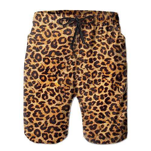 Leopard Print.jpg Men's Swim Trunks Quick Dry Beach Shorts Beach Surfing Running Swimming Swim Shorts