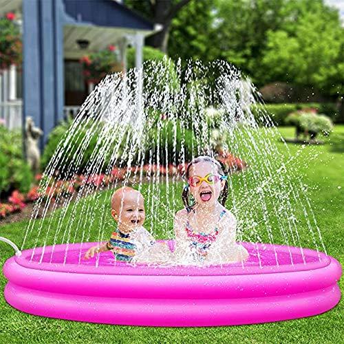 AOLUXLM Tappetino Gioco d'Acqua per Bambini Piscina Gonfiabile,Giochi dacqua da Giardino Tappetino Spruzzi Bambini,Piscina Bimbi 1 Anno Ragazzi e Ragazze(Giraffa Che può spruzzare Acqua)