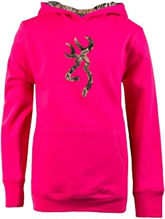 Youth Buckmark Hoodie   Coral   Small