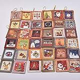 JJZS Greeting Card 16Pcs / Set Tarjeta De Navidad Tarjetas De Felicitación Encantadoras Feliz Año Nuevo Postal Tarjeta De Bendición Para Merry, R (36Pcs)