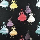 Premium Silhouette lila metallic Brokat Kleid Stoff