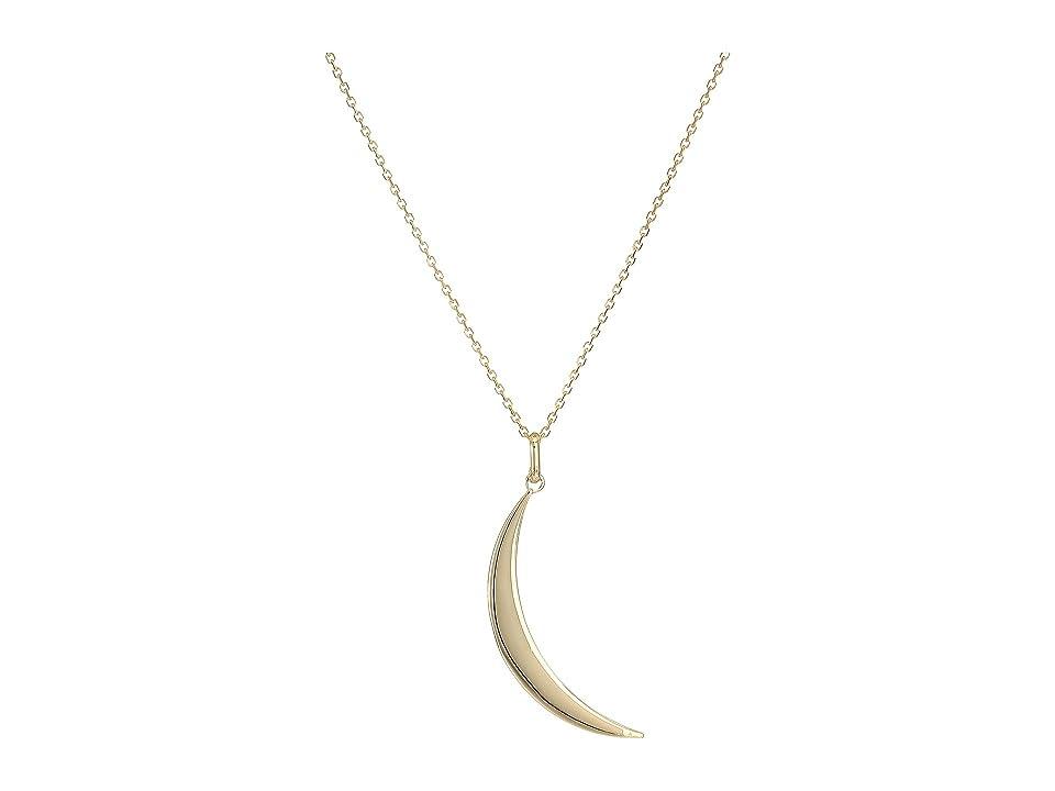 Dee Berkley - Dee Berkley 14KT Yellow Gold Crescent Moon