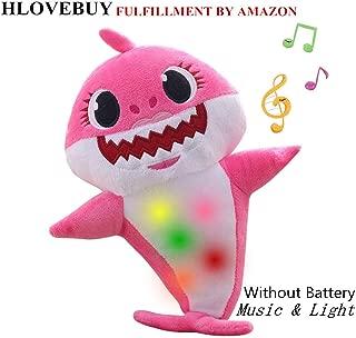 Baby Shark Official Singing Plush, Music Sound Baby Shark Plush Doll Soft Baby Cartoon Shark Stuffed & Plush Toys Singing English Song for Kids Gift Children Girl