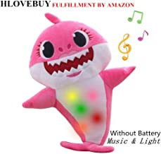 Baby Shark Official Singing Plush, Music Sound Baby Shark Plush Doll Soft Baby Cartoon Shark Stuffed & Plush Toys Singing English Song for Kids Gift Children Girl