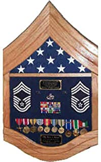 E-9 Air Force Chief Master Sergeant (CMSgt) Shadow Box/Retirement Display