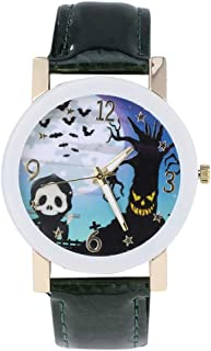 Hemobllo 1pc Women Wrist Watch Quartz Watch Halloween Theme Watches Halloween (White)