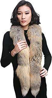 Fox Fur Boa Scarf, Women Real Fox Fur Scarf Collar Warm Neck Winter Fur Scarf for Coat