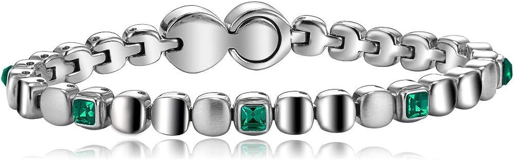Breil anello da donna in acciaio con pietre collezione rolling diamonds, TJ1457
