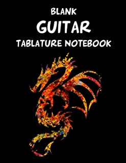 Blank Guitar Tablature Notebook