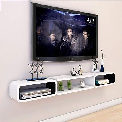 Jsmhh Montado en la Pared TV Armario con estanterías de ...
