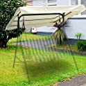 """Yescom 76 3/8"""" x 44 1/8"""" Outdoor Swing Cover Replacement Canopy"""