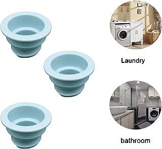 3 Pack Drain Pipe Hose Deodorant Silicone Plug Sewer Seal Ring For Washing Machine Laundry Room Bathroom Bathtub
