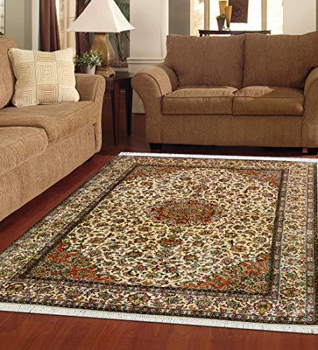 TrendyLiving4U tapijt woonkamer laagpolig Kashmir Hamadan handwerk 126x182CM roestrood