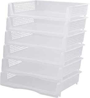 Kiddream Set of 6 Clear Desk Letter Tray Stackable Paper Tray