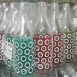 Botella de cristal Cerve Lory Daisy de 1 litro (100 cl) elegante con tapón mecánico hermético para agua, aceite, bebidas, conserva cócteles