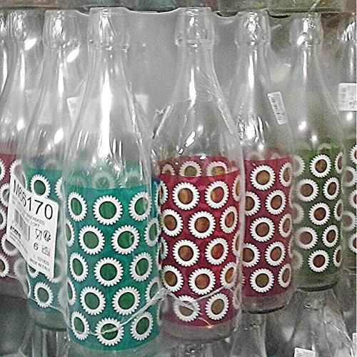 Glazen fles van hert lory daisy water 1 liter (100 cl) elegant met luchtdichte mechanische deksel voor dranken, cocktails