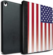 Personalized Drapeau National Nation Personnalisé 3 PU Leather Case for Apple iPad Pro 12.9 2018/3rd Gen/États-UNIS/Américain Design/Initial/Name/Text DIY Tablet Book Cover